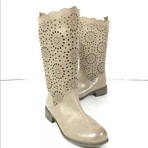 Rud By Rudsak Soft Leather Western Boots Laser Cut
